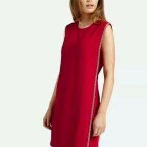 New Ted Baker dress red crystals sleeveless sz 4